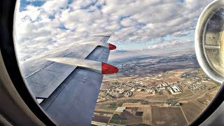 TUS Air Fokker 100 | SCENIC Landing at Tel Aviv | Incredible Engine Sound | GoPro Wing View