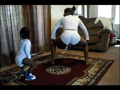 Two Girls Show A Baby In Diapers How To Twerk