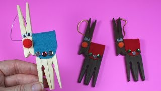 How to Make a Clothespin Reindeer | Christmas Craft for Kids