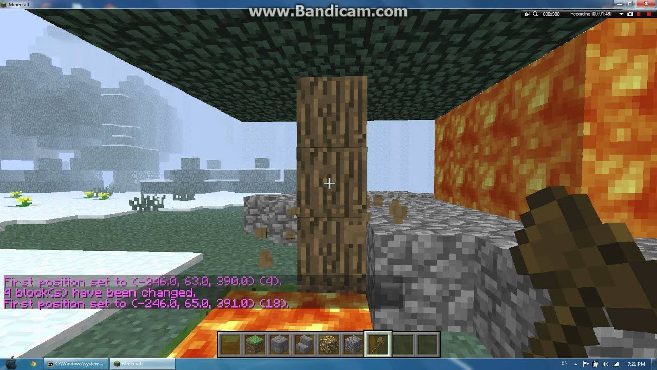 how to break blocks in minecraft laptop