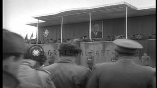 Marshal Tito, President of Socialist Federal Republic of Yugoslavia, reviews troo...HD Stock Footage