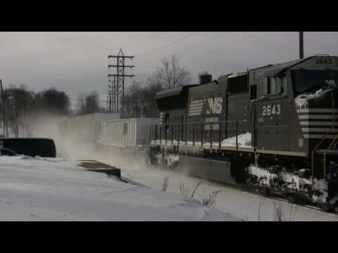 Snow Drifts and Blizzard on the NS Harrisburg Line