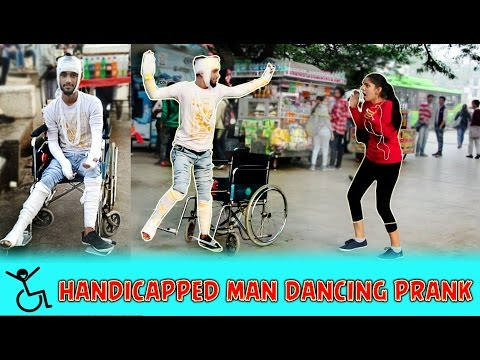Handicapped Person Dancing Prank | Pranks In India | Funny Pranks |  Aawara Boys