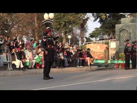 Wagah Border Crossing Flag Ceremony With Joe Little video