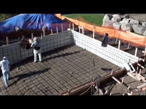 Construction Of A Concrete Swimming Pool With Auto Cover Youtube
