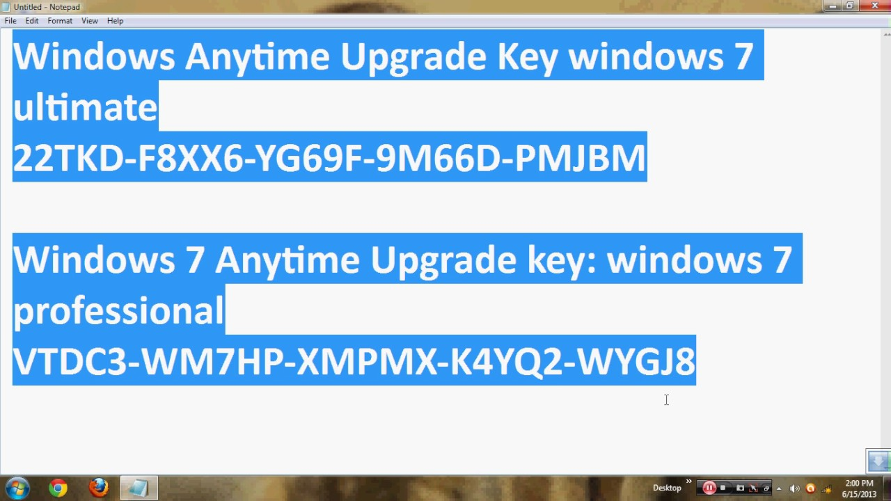 windows 7 ultimate original key youtube