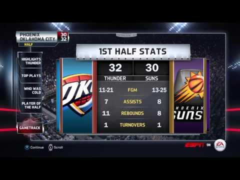 NBA 2015 - Oklahoma City Thunder vs Phoenix Suns - Half Highlights - NBA LIVE 15 PS4 - HD