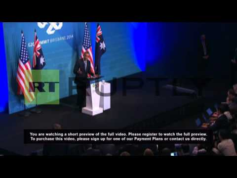 Australia: Obama warns of fresh sanctions on Russia