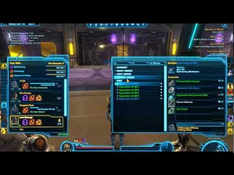 SWTOR - Patch 1.3 Augmentation Kits Guide (Synthweaver)