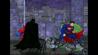 BATMAN & SPIDERMAN VS SUPERMAN & HULK