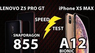 Speedtest iPhone Xs Max (Apple A12 Bionic) vs Lenovo Z5 Pro GT (Snapdragon 855)