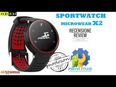 Smartwatch Microwear X2 Sportwatch low-cost, Recensione By PHONE FIXER