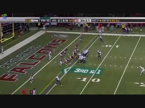 Michael Vick's First Touchdown As An Eagle 12/6/09 Video