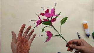 Paper Flowers | Pro | Diy | How to make a Flower Easy way with paper