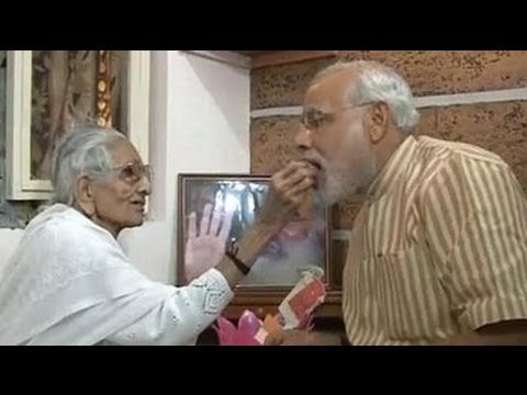 Narendra Modi Meets His Mother, Says He Wants Her Blessing video