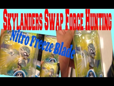 Skylanders Swap Force Nitro Freeze Blade Hunting Target Exclusive!