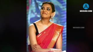 Kajal Aggarwal Hot In Red Saree At Nene Raju Nene Mantri Movie Audio Launch