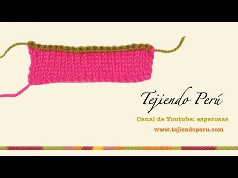 Curso básico de tejido en dos agujas, tricot o palillos (Parte 1)