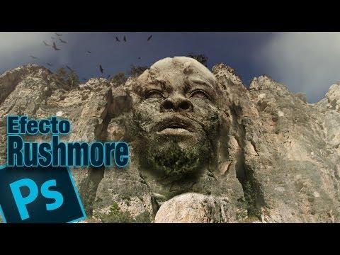 Tutorial Photoshop efecto monte rushmore (cabeza en montaña) by @ildefonsosegura