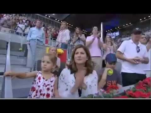 Roger Federer's Twin Babies Charlene Riva and Myla Rose at Madrid 2012 Final