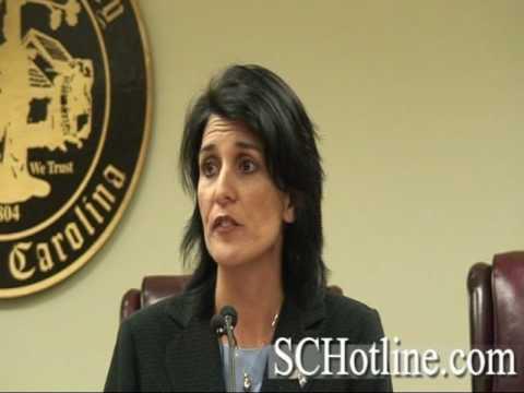 Representative Nikki Haley speaks