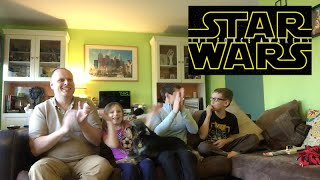 Star Wars: The Force Awakens- Teaser Trailer #2 Family Reaction and Discussion
