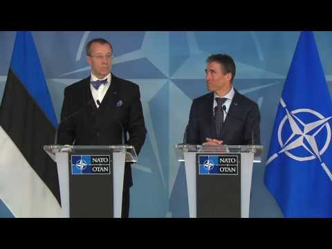 Joint Press Point - NATO Secretary General with President of Estonia, 18 March 2013