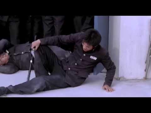 ☯ 1 Student(kwon Sang-woo) Vs 7 Bullies- Nunchaku Roof Fight ☯ video