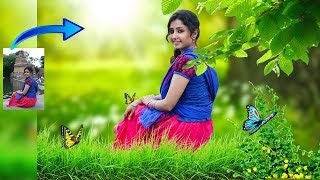 Photoshop cc Tutorial for beginners in hindi   make photo like DSLR look
