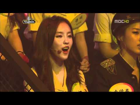 Singer and Trainee - Ailee and T-ara's performance.