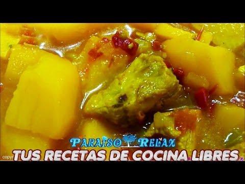 GUISILLO DE PATATAS CON COSTILLA, RECETAS DE COCINA FÁCILES Y ECONÓMICAS DE LA DIETA MEDITERRANEA