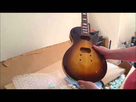 Precision Guitar Kits Les Paul project unboxing