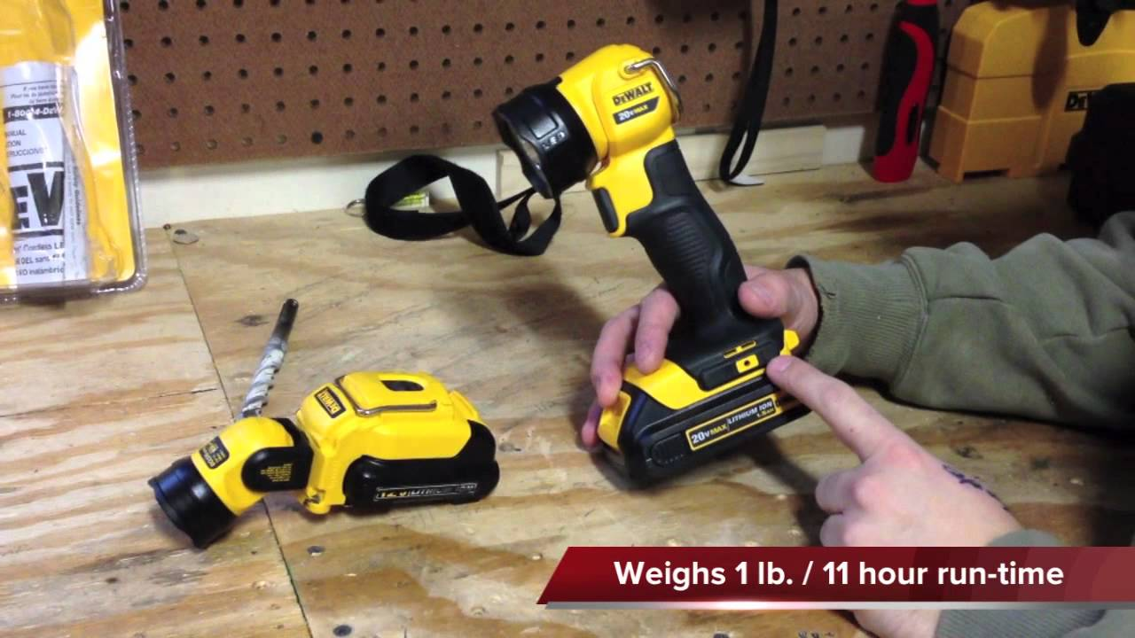 Dewalt Dcl040 20v Max Lithium Ion Led Work Light Youtube