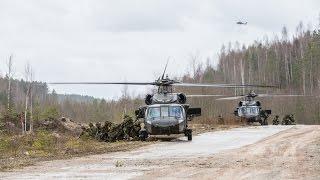2. jalaväebrigaadi ajateenijad harjutasid vastase tagalas maandumist