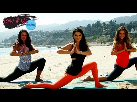 Beach Barre Workout With Rene Herlocker | Tone It Up Tuesdays