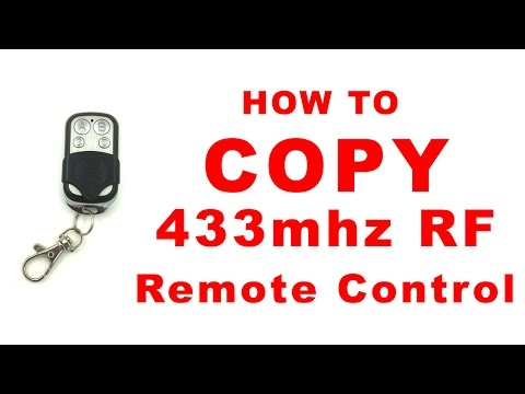 How To Copy 433MHz RF Remote Control