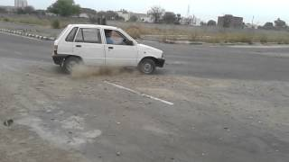 stunt and drifting video from maruti 800