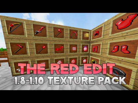AciDic BliTzz RED EDIT Texture Pack (1.8/1.9/1.10 Resource Pack)