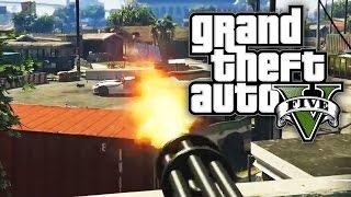 GTA 5 Online - SHOOTOUT IN THE STREET! (GTA V Online PC)