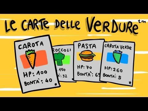 PUBBLICITÀ GIOCO DI CARTE COLLEZIONABILI DELLE VERDURE