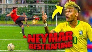 EXTREME FUßBALL CHALLENGE + NEYMAR HAARE BESTRAFUNG!!