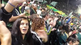 MLS: Timbers crowd reaction after last PK vs KC