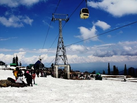 Full Journey In Cable Car Gondola At Gulmarg, Kashmir, India HD Video