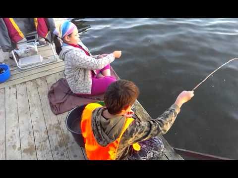 видео ловля на палку
