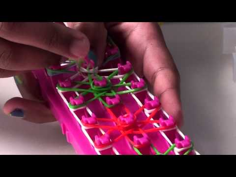 Starburst Bracelet using Rainbow / Crazy Loom