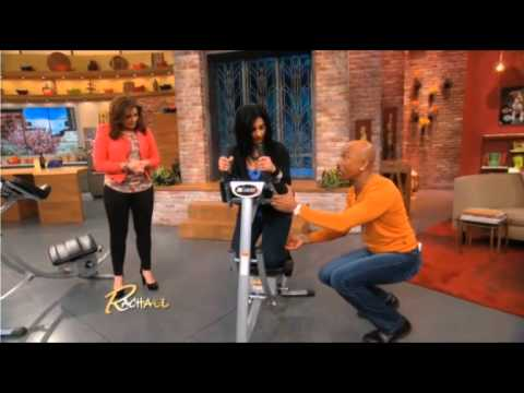Rachel Ray and Montel Williams on the Ab Coaster
