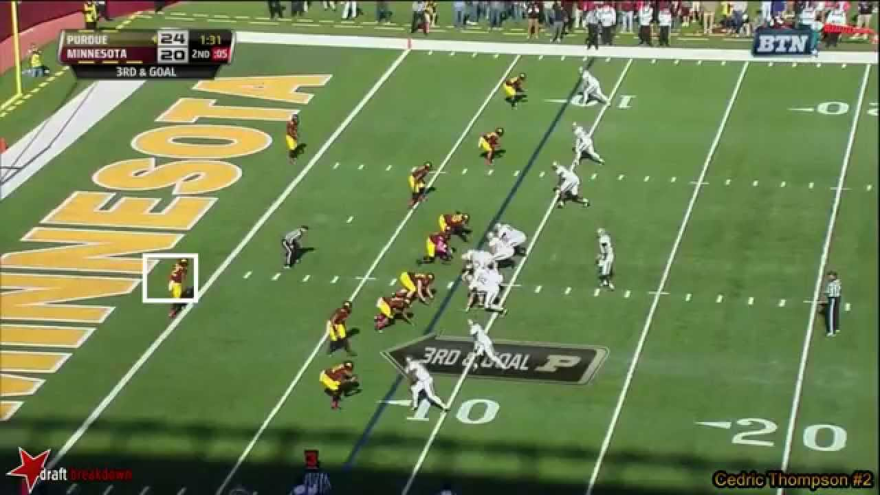 Cedric Thompson vs Purdue (2014)