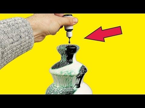 Фонтан из зеленой сметаны, кефира, сливок и масла!  Шоколадный фонтан