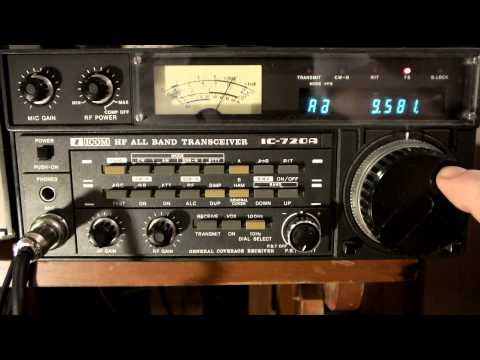 ICOM 720A HAM HF BAD Attenuator is about 74dB Radio Austialia 9580 Khz