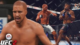 J.Cole Is Fighting Like A GLITCH! He Needs ONE COMBO! EA Sports UFC 2 Ultimate Team Gameplay